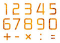 Set of digits and operations of arithmetic Stock Photo