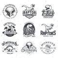 Set of Dino Logos.
