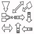 Set of directional arrows Stock Image
