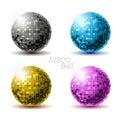Set of disco balls. Royalty Free Stock Photo