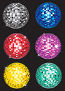 Set of discoballs Royalty Free Stock Photo