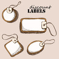 Set of discount labels Royalty Free Stock Photo