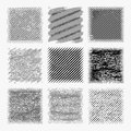 Set of distressed halftone textures.