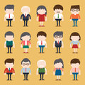 Set of diverse business people. Different and dress styles. Royalty Free Stock Photo