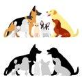 Set of dog group Royalty Free Stock Photo