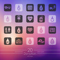 Set of donation icons Royalty Free Stock Photo