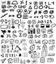 Set doodle business icons Stock Photo