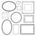 Set of doodle frames vector illustration Stock Image