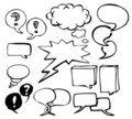 Set of doodle speech bubbles Royalty Free Stock Photography
