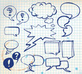 Set of doodle speech bubbles Royalty Free Stock Images
