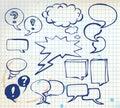 Set of doodle speech bubbles Royalty Free Stock Photo