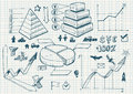Set of doodles. diagrams Royalty Free Stock Image