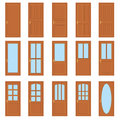 Set of the doors. Royalty Free Stock Photo