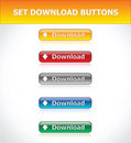 Set Download Buttons Stock Photography