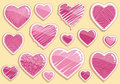 Set drawings heart Stock Image