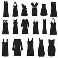Set of dresses isolated on white Royalty Free Stock Photos