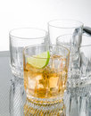 Set of drinking glasses Stock Image