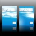 Set dwa lato broszurki o temacie pokrywy Zdjęcia Stock