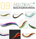 Set of dynamic waves Royalty Free Stock Photo