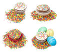 Set of Easter cakes Stock Photography