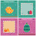 Set easter card decorations copy space Stock Image