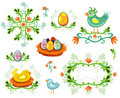Set of Easter design elements Royalty Free Stock Photo
