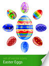 Set easter eggs Royalty Free Stock Photos
