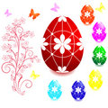 Set of Easter eggs. Royalty Free Stock Photography
