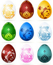 Set of Easter eggs Stock Photo
