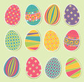 Set of Easter Eggs Royalty Free Stock Photo