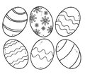 Set easter eggs isolated white background Royalty Free Stock Photo