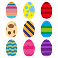 Set of Easter eggs. Vector illustration eps10