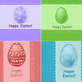 Set of Easter greetings card Royalty Free Stock Photos