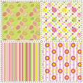 Set of Easter holiday seamless pattern Royalty Free Stock Image