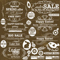 Set of easter sale offer labels vector and banners illustration Stock Image