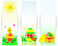 Set of easter vertical banners. Royalty Free Stock Photography
