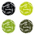 Set of ECO friendly green Set of green labels and badges with leaves for eco friendly products Royalty Free Stock Photo