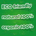 Set of Eco Friendly, Natural and Organic Labels Stock Image