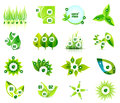 Set of eco leaf infographic design templates this is file eps format Royalty Free Stock Image
