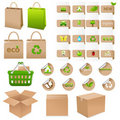 Set Of Ecological Container. Vector Royalty Free Stock Photo