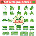 Set of ecological houses of varying complexity vector eps Stock Photography