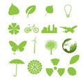 Set of ecology icons. Stock Image