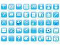 Set of education icons blue Stock Image