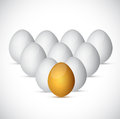 Set of eggs illustration design over a white background Royalty Free Stock Images