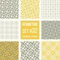 Set of eight geometric patterns Royalty Free Stock Photo