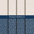 Set of eight seamless vector flower patterns. design for packaging, covers, textile