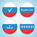 Set of election badges Royalty Free Stock Images