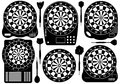 Set Of Electronic Dartboards Royalty Free Stock Photo