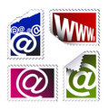 Set of electronic post stamps Stock Photography