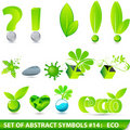 Set of elegant 3D eco symbols Stock Photo